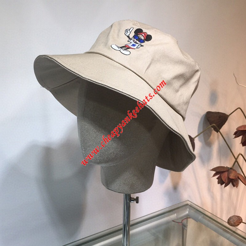 MLB X Disney Bucket Hat New York Yankees Hat Khaki