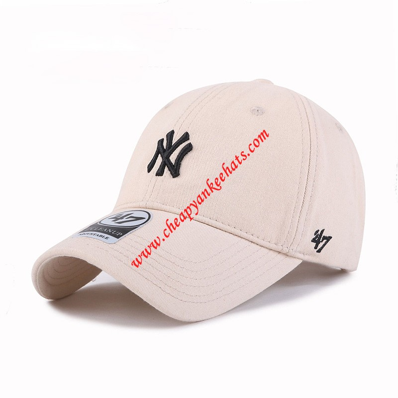 MLB NY 47 Brand Cap New York Yankees Hat Beige