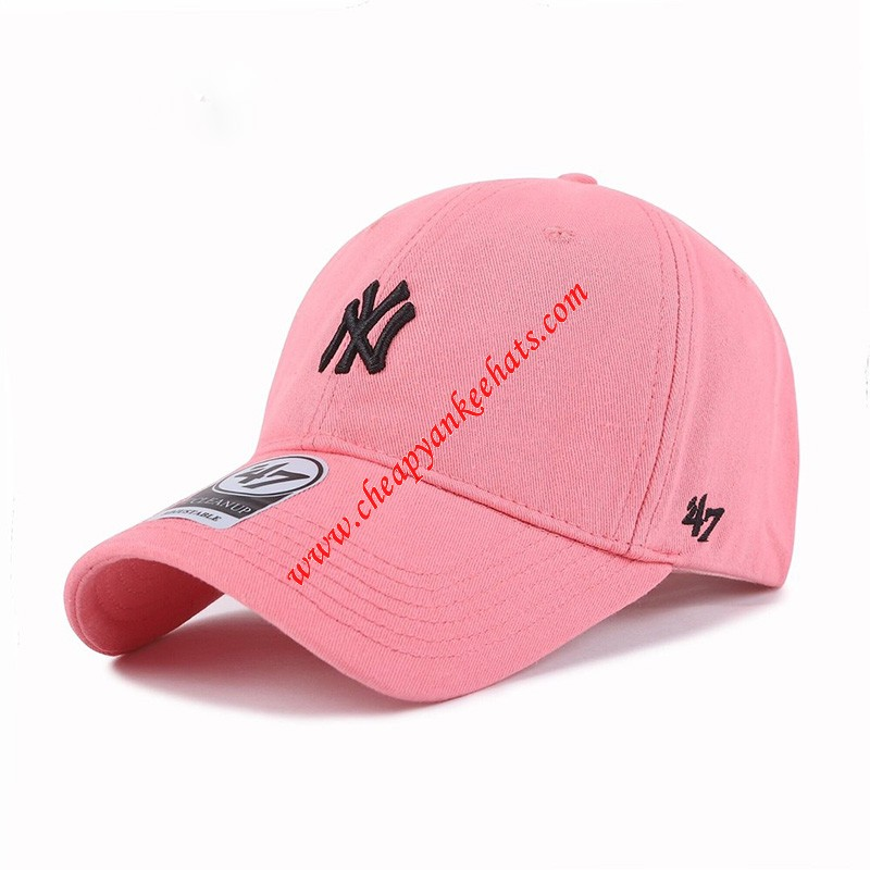 MLB NY 47 Brand Cap New York Yankees Hat Pink