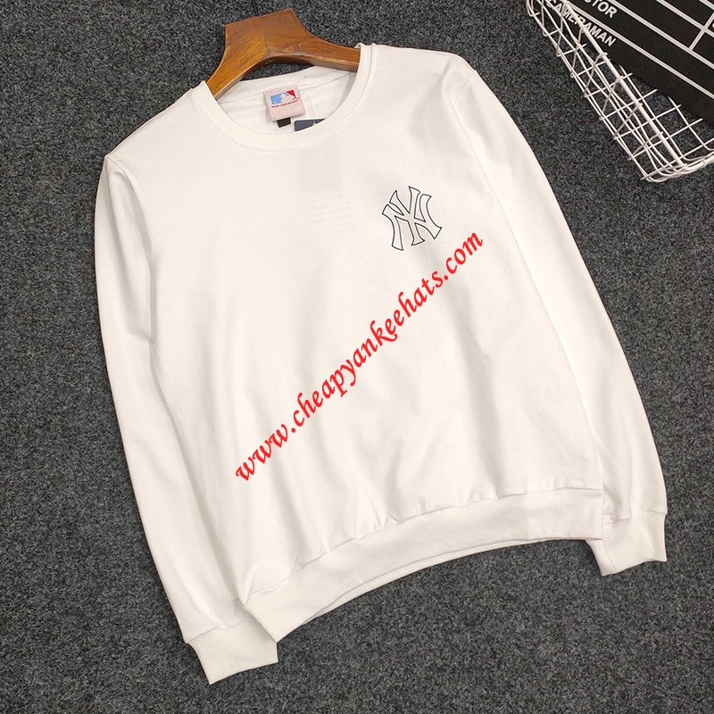 MLB NY Back Monogranm Logo Sweatshirt New York Yankees White
