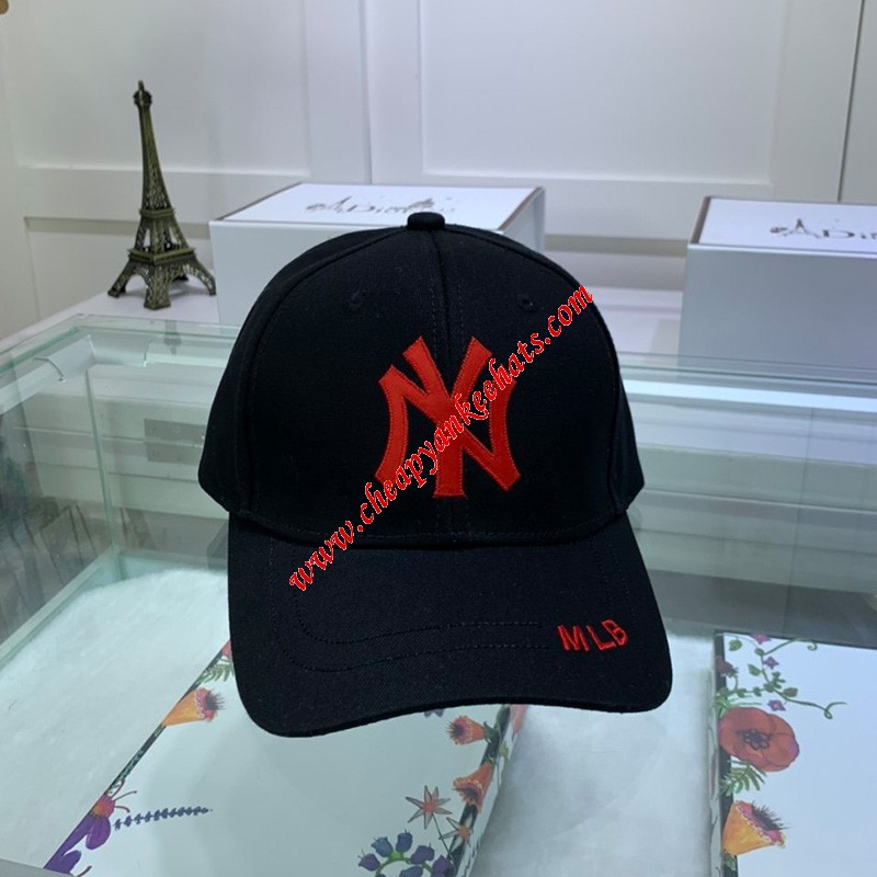 MLB NY Adjustable Cap New York Yankees Hat Black
