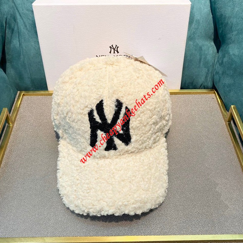 MLB NY Cashmere Cap New York Yankees Hat Beige