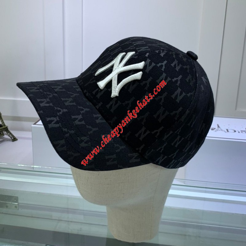MLB NY Monogram Cap New York Yankees Hat Black
