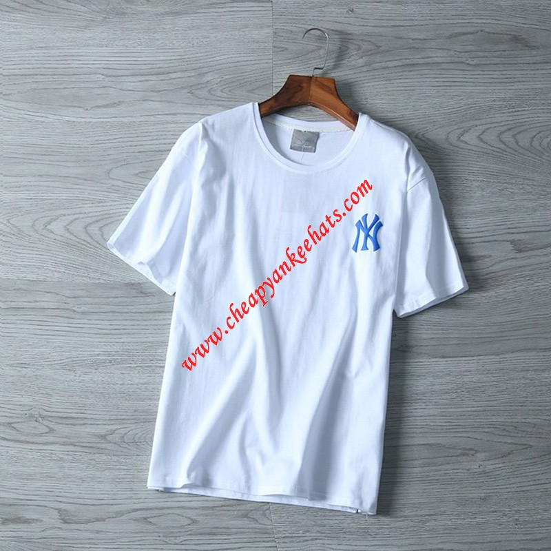 MLB NY Popcorn 21 Short Sleeve T-shirt New York Yankees White