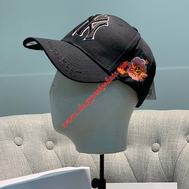 MLB NY Rose Garden Adjustable Cap New York Yankees Hat Black