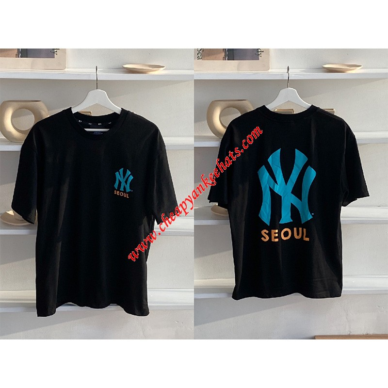 MLB NY City Exclusive Seoul Short Sleeve T-shirt New York Yankees Black