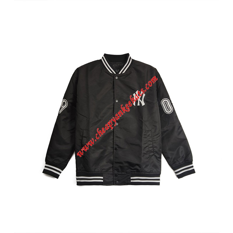 MLB NY Sleeve Point Baseball Jacket New York Yankees Black