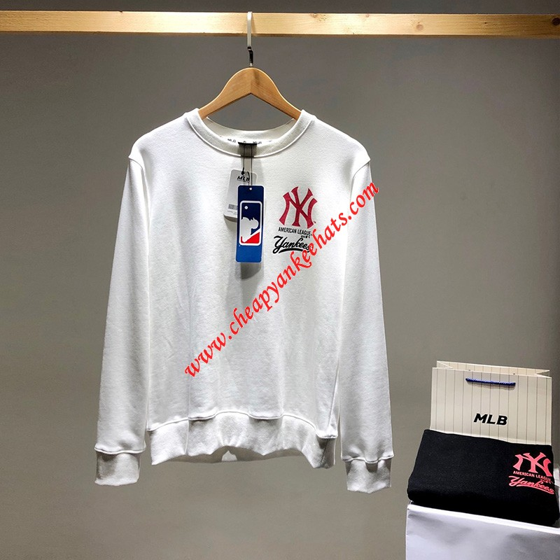 MLB NY Major Leagua Baseball Sweatshirt New York Yankees White