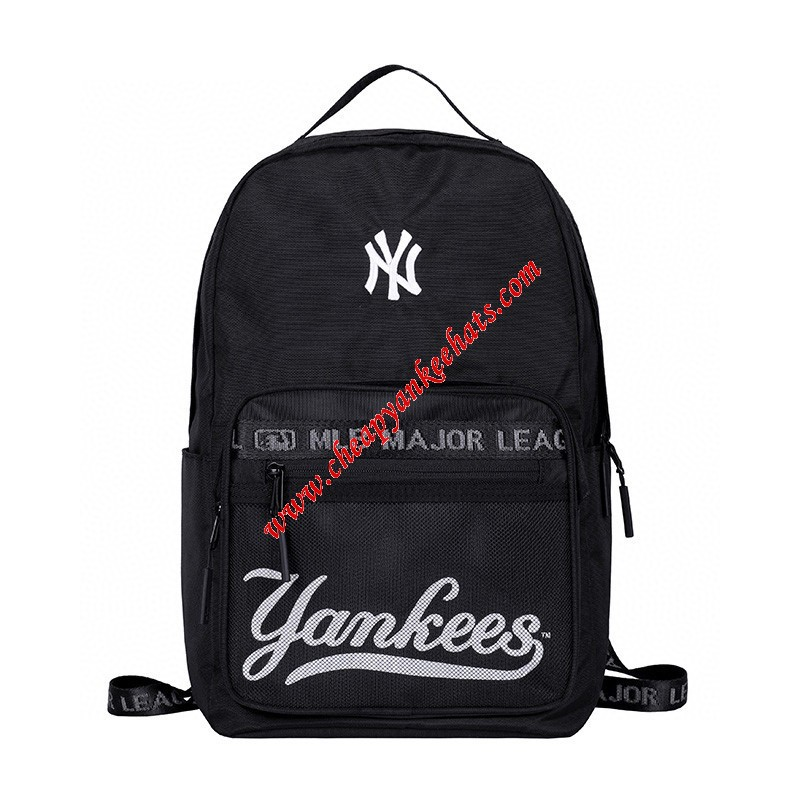 MLB NY Team Logo Backpack New York Yankees Black