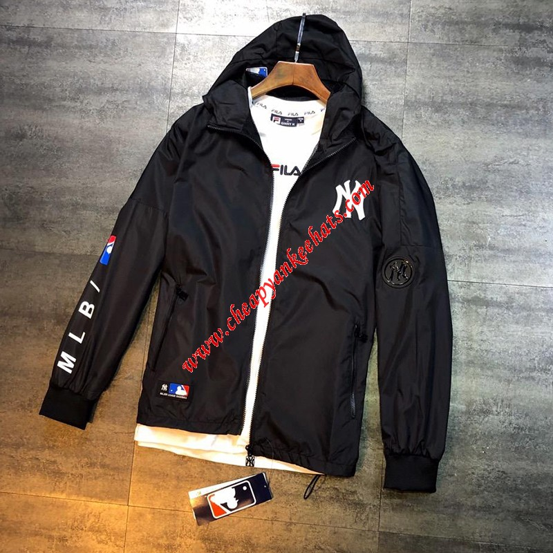 MLB NY Windbreaker New York Yankees Black