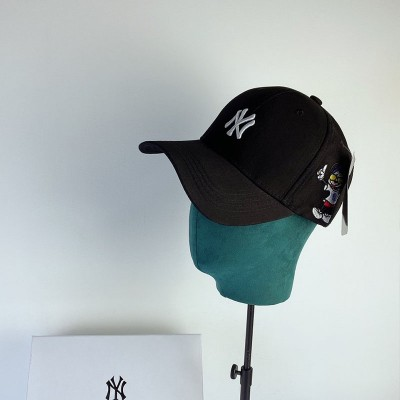 MLB X Disney Embroidery Ball Cap New York Yankees Hat Black