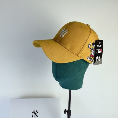 MLB X Disney Embroidery Ball Cap New York Yankees Hat Yellow