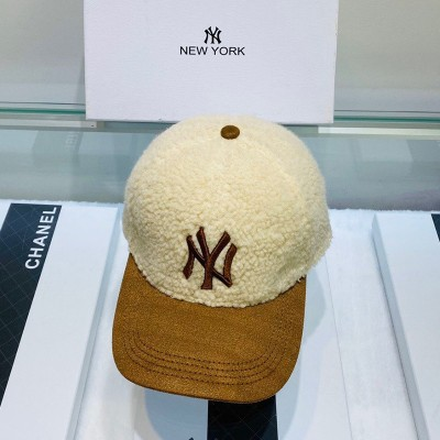 MLB NY Cashmere Ball Cap New York Yankees Hat Beige/Brown