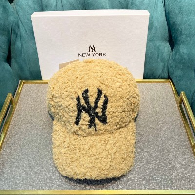 MLB NY Cashmere Cap New York Yankees Hat Camel