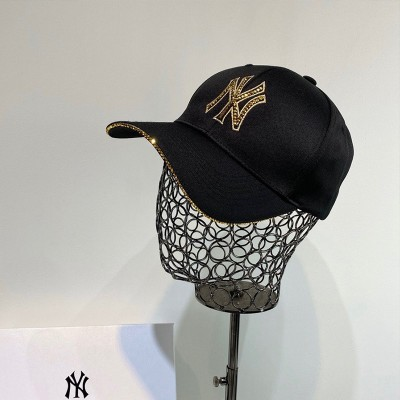 MLB NY Crystal Logo Adjustable Cap New York Yankees Hat Black