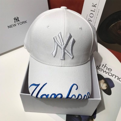 MLB NY Embroidery Adjustable Cap New York Yankees Hat White
