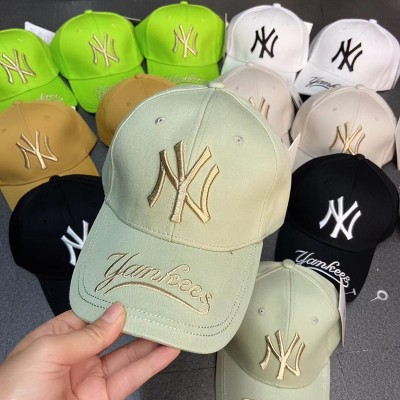 MLB NY Galligraphy Adjustable Cap New York Yankees Hat Mint Green