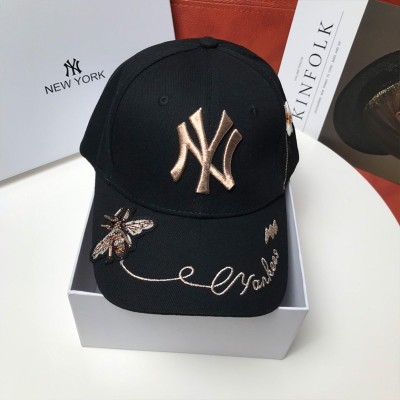 MLB NY Gold Bee Adjustable Cap New York Yankees Hat Black