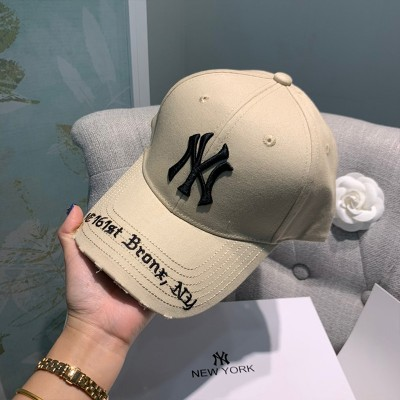 MLB NY Gothic Address Adjustable Cap New York Yankees Hat Khaki