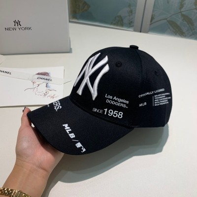 MLB NY Mixed Logo Adjustable Cap New York Yankees Hat Black