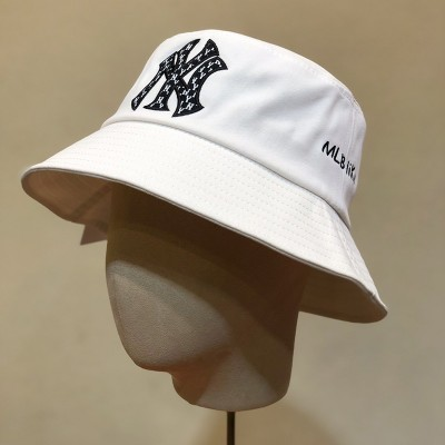 MLB NY MLBlike Logo Bucket Hat New York Yankees Hat White