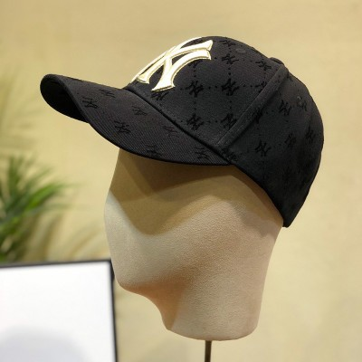 MLB NY Monogram Ball Cap New York Yankees Hat Black