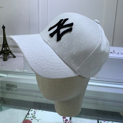 MLB NY Monogram Cap New York Yankees Hat White