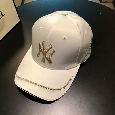MLB NY Rose Bee Adjustable Cap New York Yankees Hat White