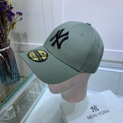 MLB NY Sticker Adjustable Cap New York Yankees Hat Grey/Black