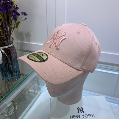 MLB NY Sticker Adjustable Cap New York Yankees Hat Pink
