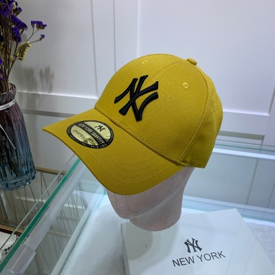 MLB NY Sticker Adjustable Cap New York Yankees Hat Yellow/Black