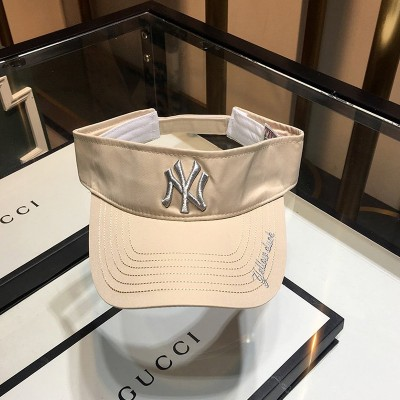 MLB NY Embroidery Logo Visor New York Yankees Hat Beige