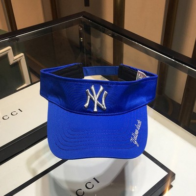 MLB NY Embroidery Logo Visor New York Yankees Hat Blue