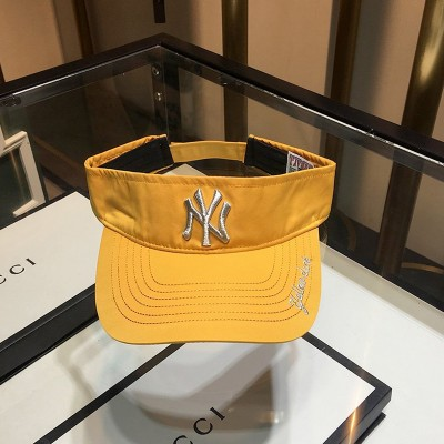MLB NY Embroidery Logo Visor New York Yankees Hat Yellow